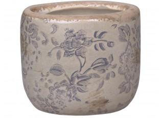 Keramický květináč s popraskáním Melun - Ø8*7cm