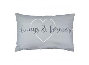 Šedý obdélníkový polštář Always and Forever - 40*12*60cm