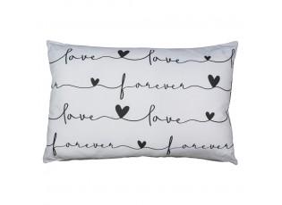 Světle šedý polštář Forever Love - 40*12*60cm