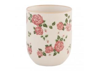 Kalíšek dekor růže - pr 6*8 cm