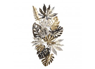 Nástěnná kovová dekorace listů Janis - 141*9*77 cm