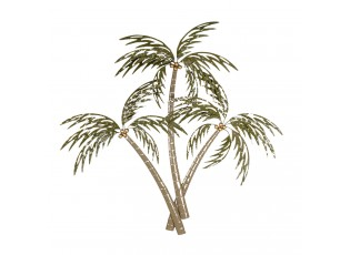 Nástěnná kovová dekorace palmy - 90*8*100 cm