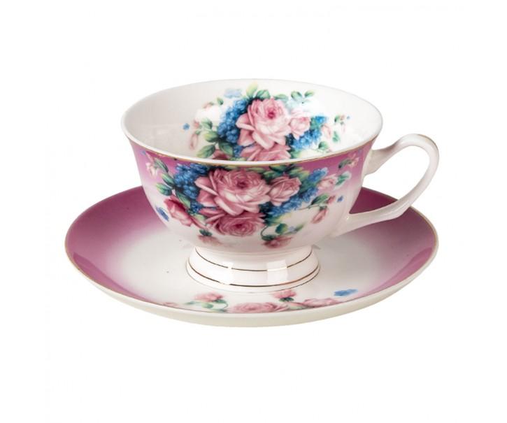 Porcelánový šálek s podšálkem Gardem VIII - 12*10*6 / Ø 15*2 cm / 200 ml