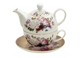 Porcelánová sada Tea for one Flower Sun - 17*10*14 cm /Ø15*2 /400 ml / 250 ml