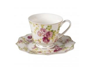 Porcelánový šálek s podšálkem Garden III - Ø 16*1 / 12* 9*8 cm / 200 ml