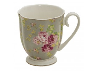 Porcelánový hrnek s květy - 11*8*10 cm / 290 ml