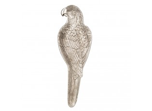 Stříbrná dekorativní miska ve tvaru papouška - 10*32*2 cm