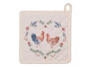 Chňapka-podložka Chicken adn Rooster - 20*20 cm