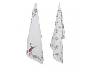 Sada 2 bavlněných kuchyňských utěrek  Holly Christmas - 50*70 cm