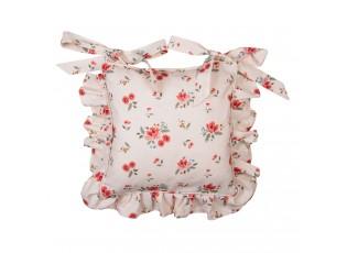 Bavlěný povlak na podsedák s květy Little Rose Collection - 40*40 cm