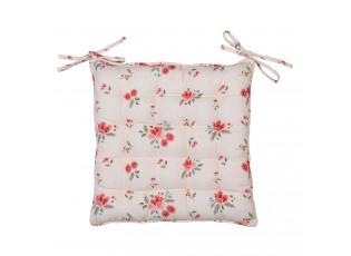 Bavlněný podsedák s výpní s květy Little Rose Collection - 40*40 cm