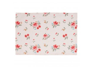 Sada 6ks bavněných prostírání s květy Little Rose Collection - 48*33 cm