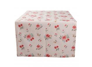 Bavlněný běhoun s květy Little Rose Collection - 50*140 cm