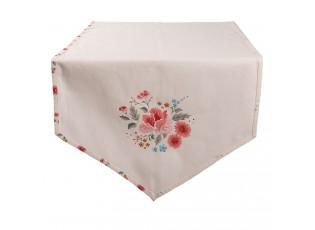 Bavlněný běhoun s květy Little Rose Collection - 50*160 cm