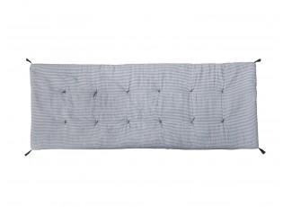 Pruhovaný podsedák/matrace s výplní na lavici se střapci Mip - 180*70 cm