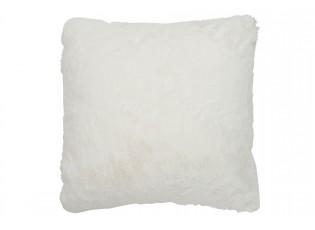 Bílý plyšovo chlupatý polštář Cutie -  44*41*12cm