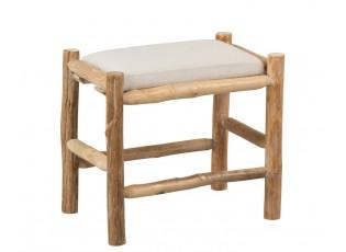 Přírodní dřevěná stolička se sedákem Vaness - 50*36*44 cm