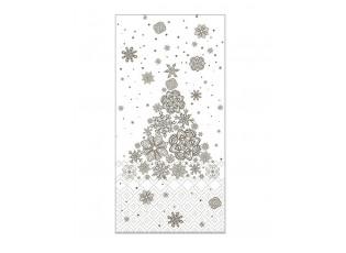 Krémovo -šedé papírové ubrousky Christmas tree - 40*40 cm (15ks)