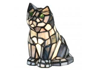 Stolní Tiffany lampa kočka - 15*15*16 cm