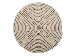 Kulaté pruhované jutové prostírání - Ø 40*1 cm