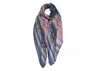 Barevný vzorovaný šátek - 90*180 cm