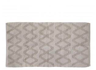 Béžový bavlněný koberec se vzorem  Mig - 75*150 cm