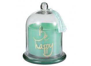 Vonná svíčka ve skleněné dóze s poklopem Be happy - Ø 14*20cm /50h