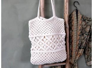Háčkovaná síťovaná taška přes rameno Mesh - 30*42 cm