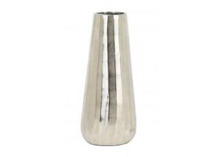 Stříbrná kovová váza Durango nickel - Ø13*29cm
