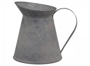 Dekorační plechový retro džbánek Jougy - Ø 12*13 cm
