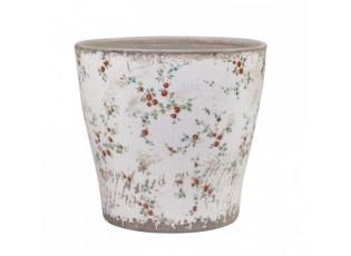 Keramický obal na květináč s malými kvítky Tulle - Ø16*17cm