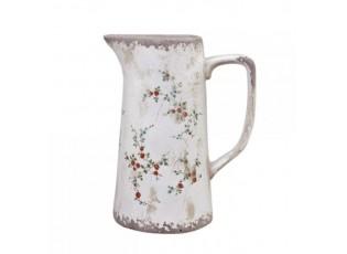 Keramický dekorační džbán s malými kvítky Tulle -  16*11*19cm