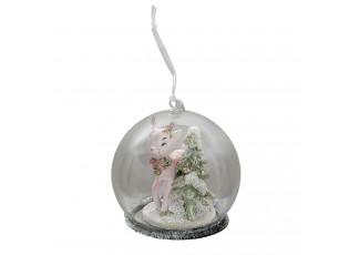 Vánoční ozdoba koloušek se stromečkem - Ø 10*10 cm