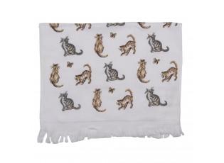 Kuchyňský froté ručník s kočky - 40*66 cm