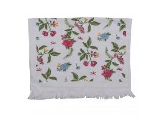 Kuchyňský froté ručník s květy - 40*66 cm