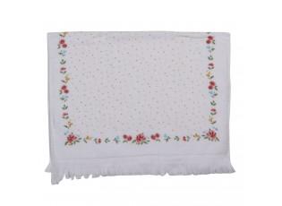 Kuchyňský froté ručník s květy a puntíky - 40*66 cm