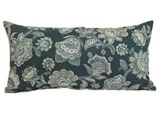 Krémovo - zelený polštář s květy Imbali - 45*45cm