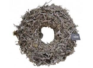 Přírodní věnec z klacíků a lišejníku s patinou Thick Bonsai - Ø 45 * 12cm