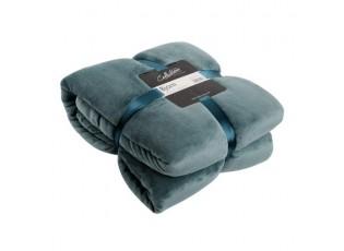 Modrý chlupatý pléd Bjorn petrol - 150*200 cm