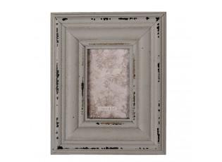 Šedý dřevěný fotorámeček - 11*1*14 cm / 5*7 cm