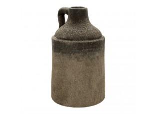 Šedý keramický dekorační džbán s uchem a patinou Tatum - Ø  19*33 cm