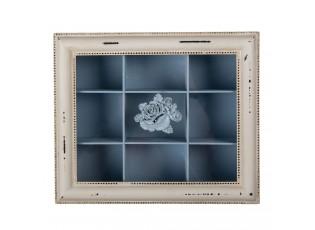 Modro-bílá krabička na čaj  Charlette - 32*26*9 cm