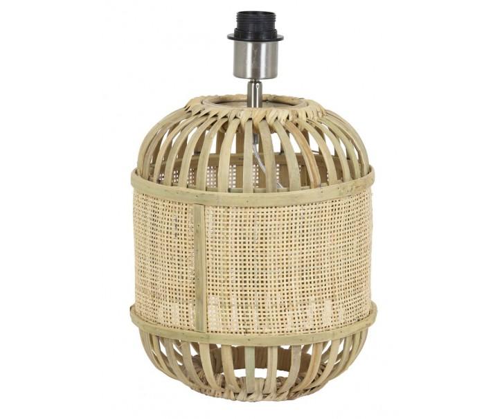 Přírodní bambusová základna k lampě Alifia s výpletem - Ø 25*30cm / E27