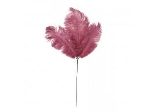 Červená dekorace peříčka do vázy Featy – 61 cm