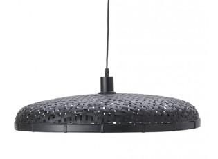 Černé ratanové světlo Paloma s výpletem - Ø 60*9cm / E27