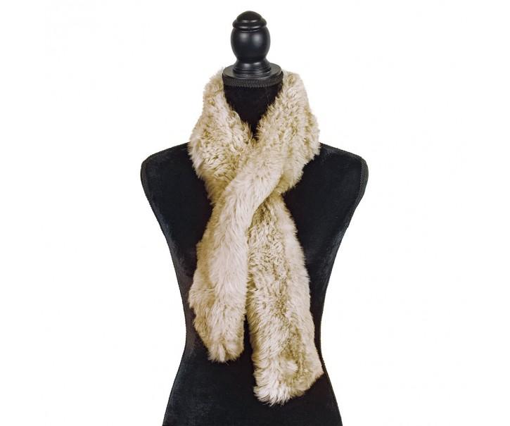 Béžová šála z ovčí vlny Shea - 15*110cm