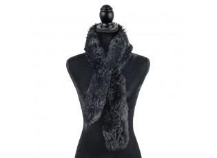 Černá šála z ovčí vlny Shea - 15*110cm