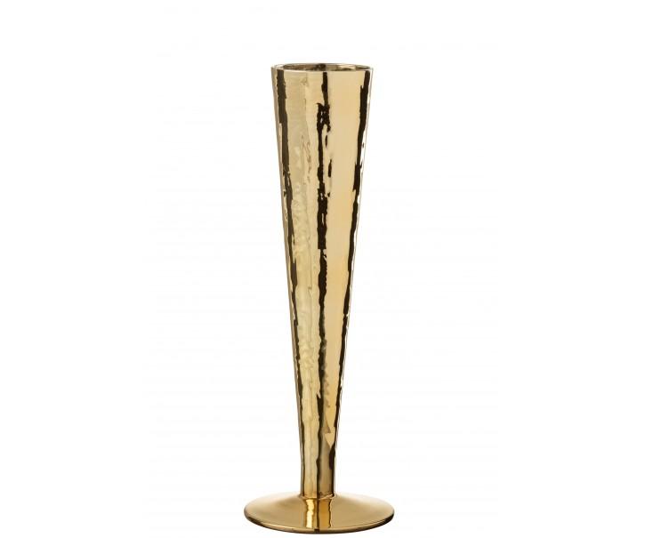 Zlatá sklenička na šampaňské Glass golden - Ø 7*23 cm