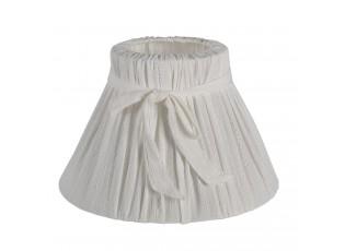Bílé látkové stínidlo s mašlí Mira - Ø  33*21 cm