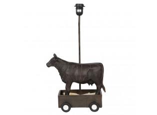 Černá základna k lampě kráva na vozíku - 30*17*56 cm